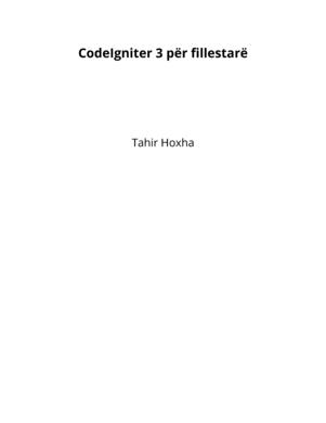 CodeIgniter 3 për fillestarë