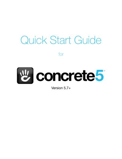 Quick Start Guide for concrete5