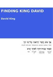 Finding King David