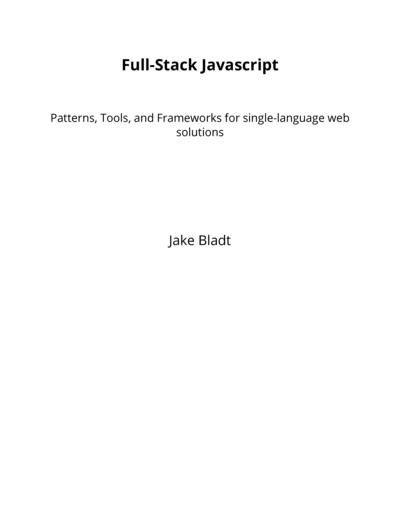 Full-Stack Javascript