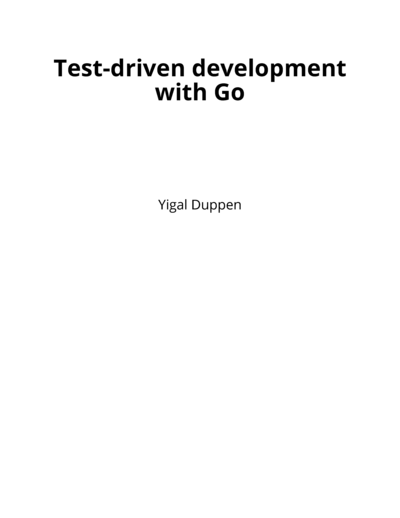Test-driven development with Go