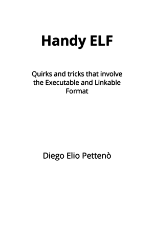 Handy ELF cover page
