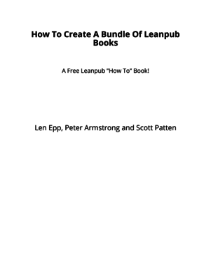 How To Create A Bundle Of Leanpub Books cover page