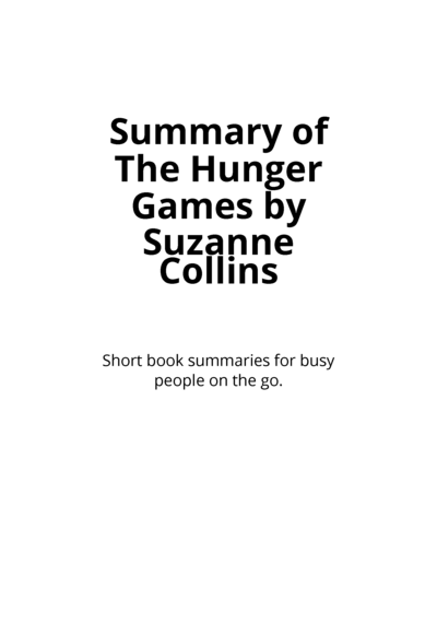summary of the hunger games by by jeff jones pdf ipad kindle
