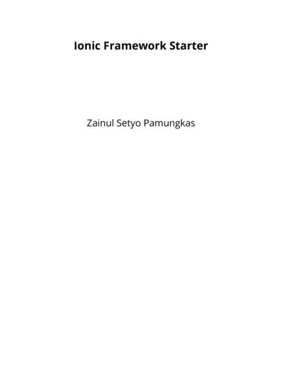 Ionic Framework Starter