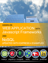 Hands-On Web Application with Javascript Frameworks and NoSQL cover page