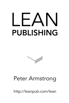 Lean Publishing cover page