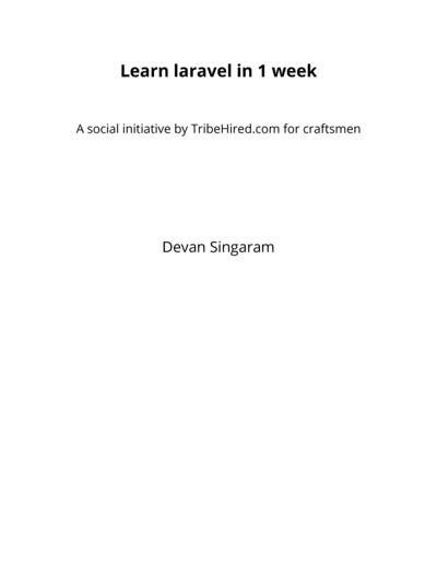 Learn laravel in 1 week (version 0.1)