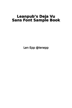 Leanpub's Deja Vu Sans Font Sample Book