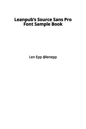 Leanpub's Source Sans Pro Font Sample Book