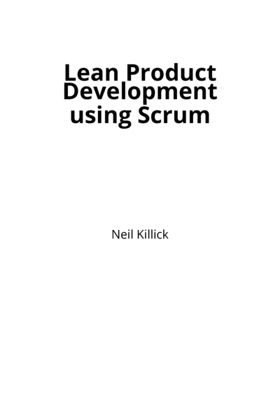 Lean Product Development using Scrum