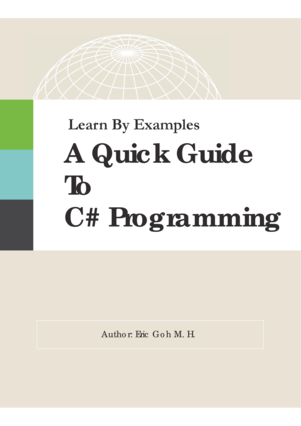 Learn By Examples - A Quick Guide to C# Programming