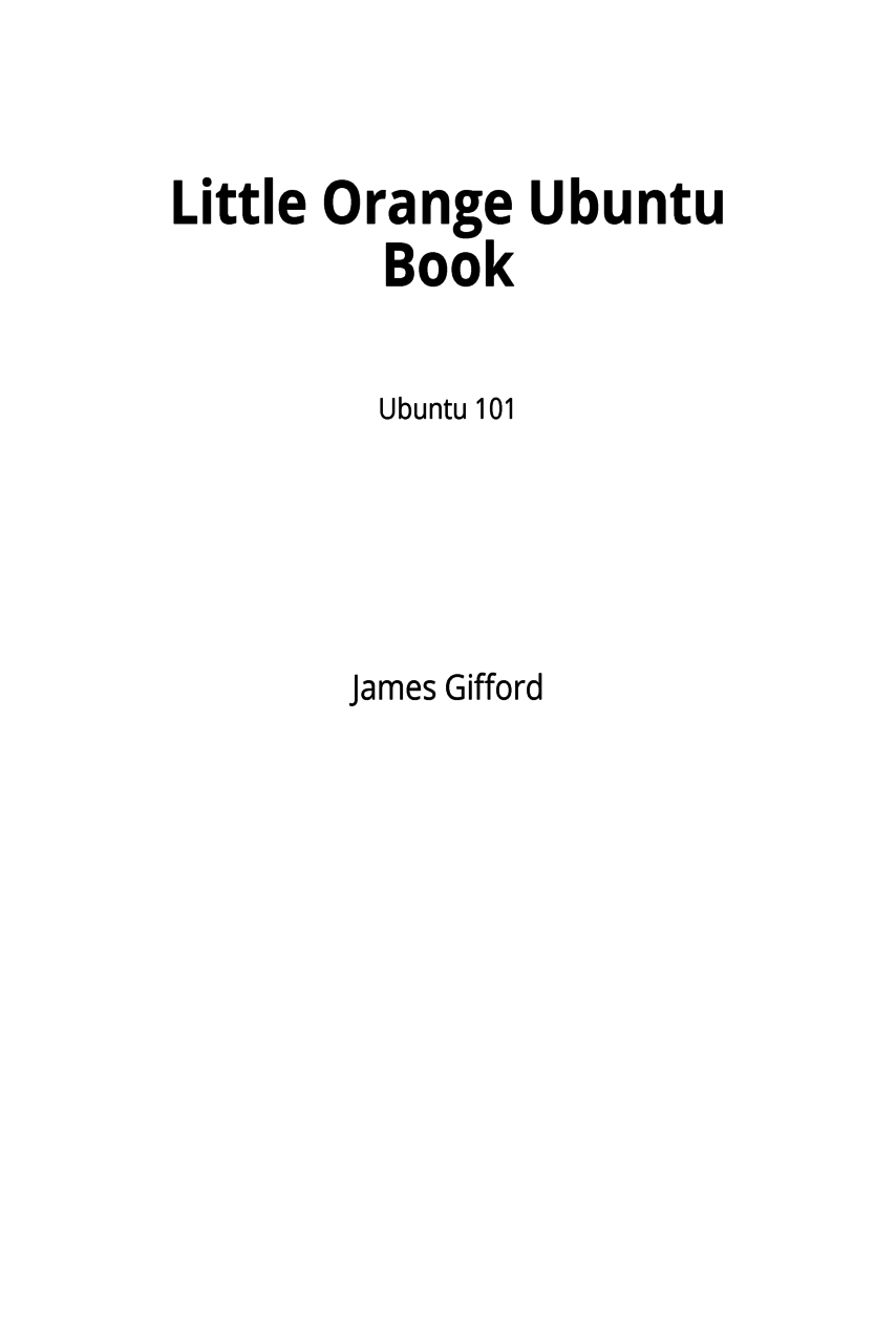 Little Orange Ubuntu Book cover page
