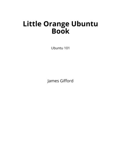 Little Orange Ubuntu Book