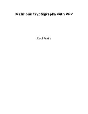 Malicious Cryptography with PHP