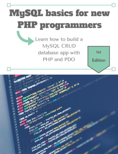 MySQL basics for new PHP programmers
