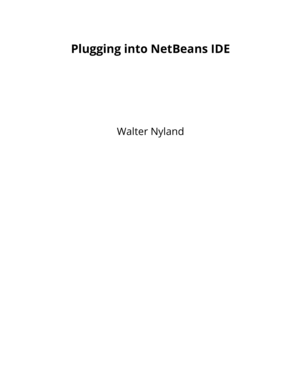 Plugging into NetBeans IDE