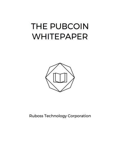 The Pubcoin Whitepaper
