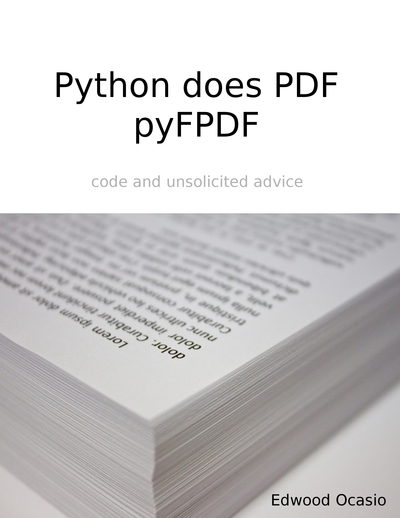 Python does PDF: pyFPDF