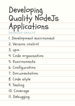 Developing Quality NodeJs Applications