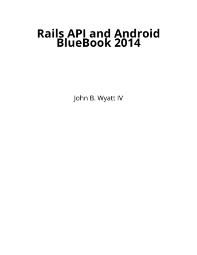 Rails API and Android BlueBook 2014