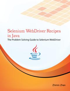 Selenium WebDriver Recipes in Java