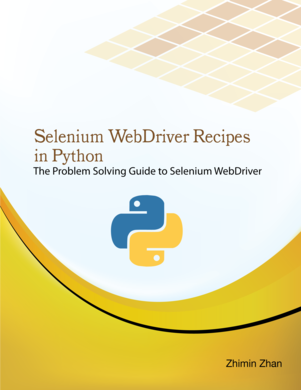 Selenium Webdriver Recipes In By Zhimin Zhan Pdf Ipad Kindle