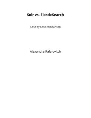 Solr vs. ElasticSearch