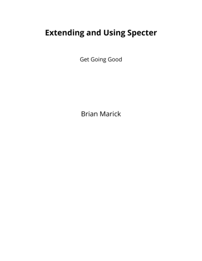 Extending and Using Specter