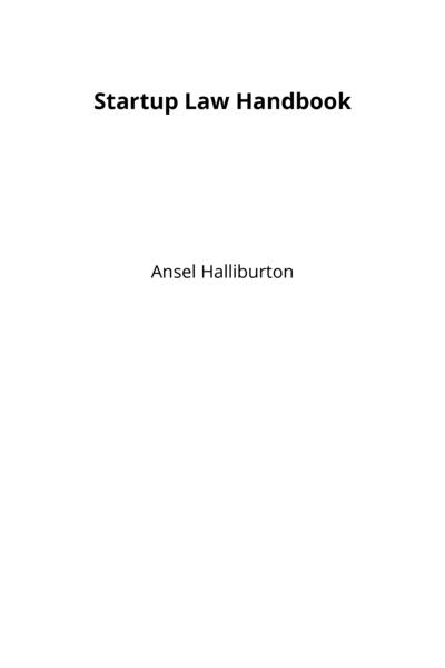 Startup Law Handbook