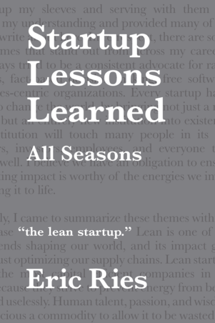 Startup Lessons Learned cover page