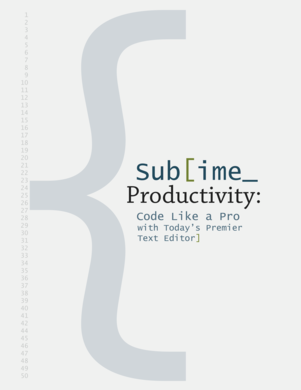 Sublime Productivity cover page