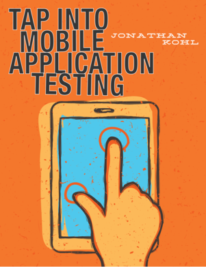 Tap Into Mobile Application Testing cover page
