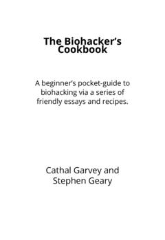 The Biohacker's Cookbook