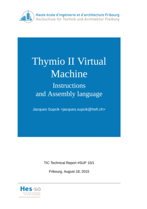 Thymio II Virtual Machine