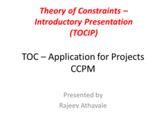 Theory of Constraints - Introductory Presentation for Projects