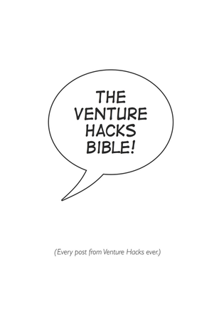 The Venture Hacks Bible cover page