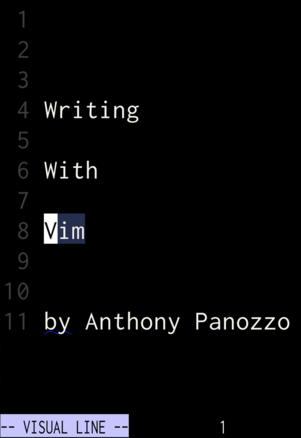 Writing With Vim cover page