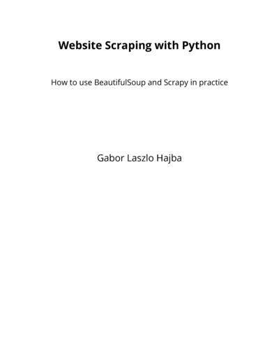 Website Scraping With By Gbor Lszl Hajba Pdfipadkindle