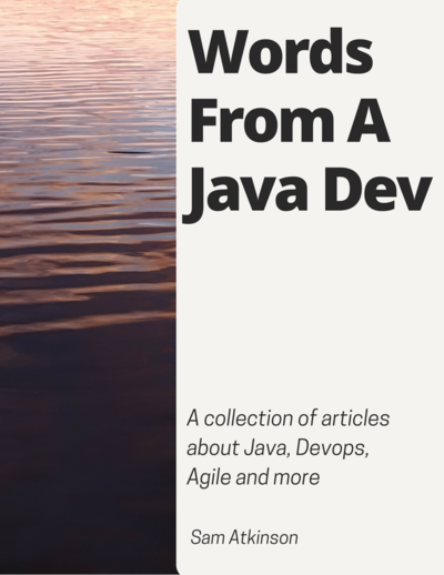Words From A Java Developer