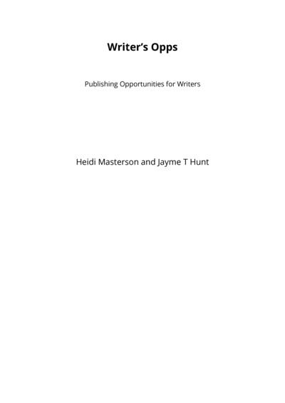 Writer's Opps