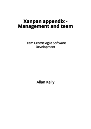 Xanpan appendix - Management and team