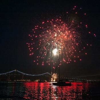 Jamestown fireworks
