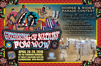Horse 2018 poster verticle with horse parade info for participants
