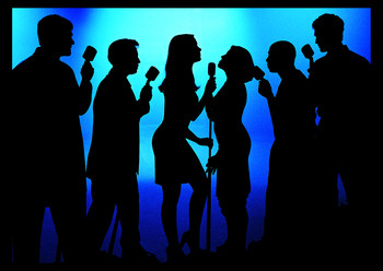 Jazz singer silhouettes clipart 1494847