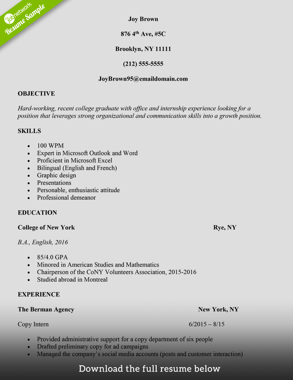 administrative assistant resume joy brown - Administrative Assistant Resume Sample