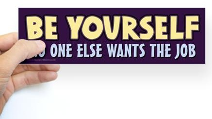 be-yourself-bumper-sticker