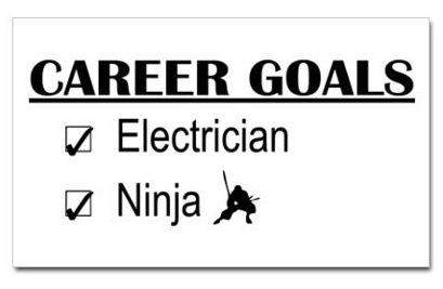 career-goals-ninja-bumper-sticker