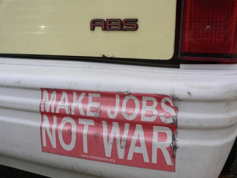 make-jobs-not-war-bumper-sticker