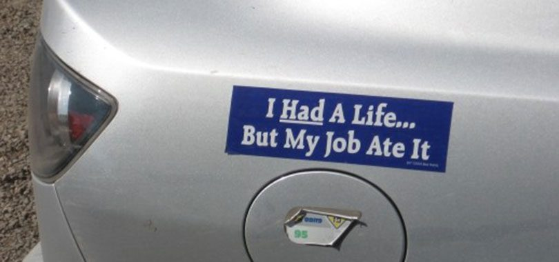 44 funny car bumper stickers about work that will make you laugh